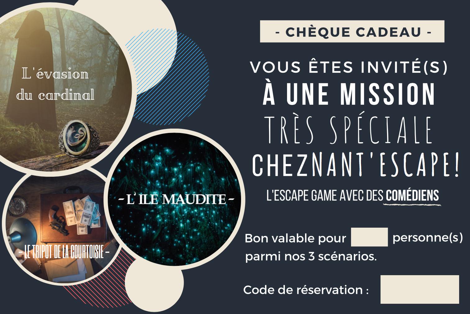 offrir - Nantes - chèque cadeau - escape game - comédiens